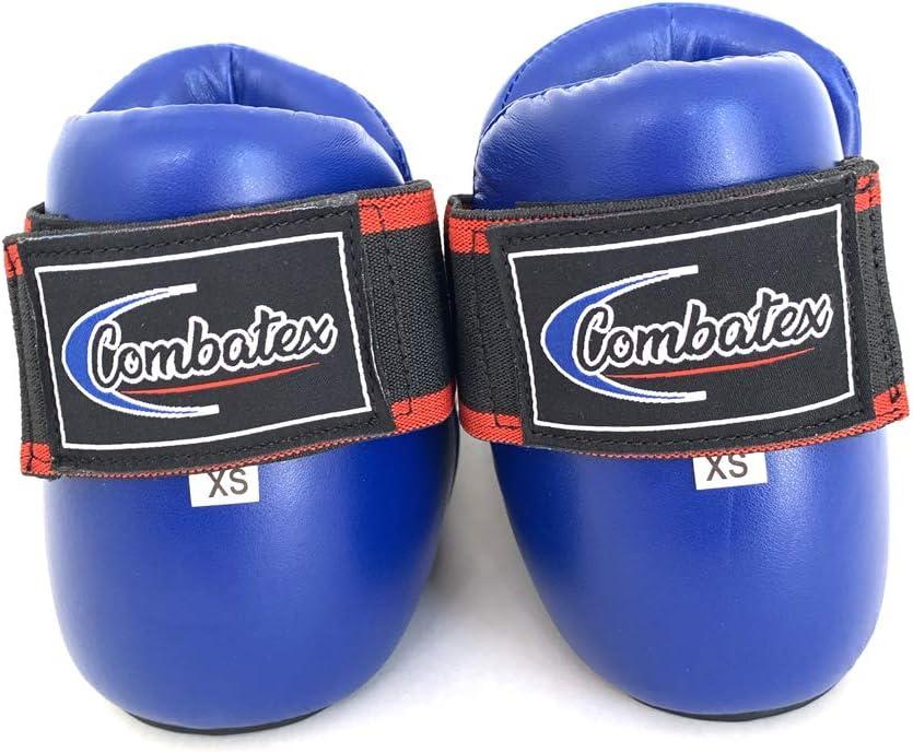 Extiff Prot/ège Pied Karat/é Taekwondo Full Contact Chaussons Arts Martiaux Protection Pieds Sport de Combat Rouge ou Bleu