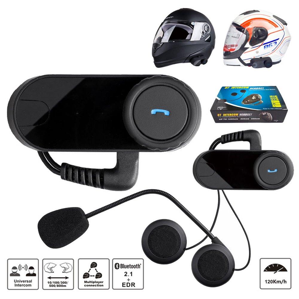 Bluetooth Intercom Headset For Universal Motorcycle Helmet Rider To Rider Intercom