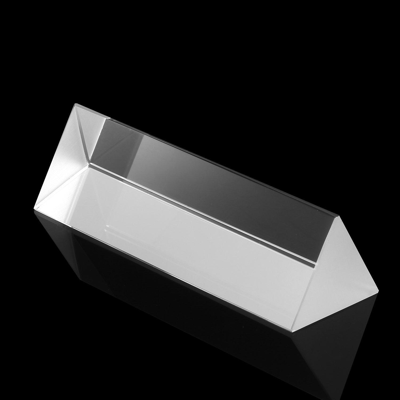 Neewer 2.5//6cm Optical Glass Triple Triangular Prism Physics Teaching Light Spectrum