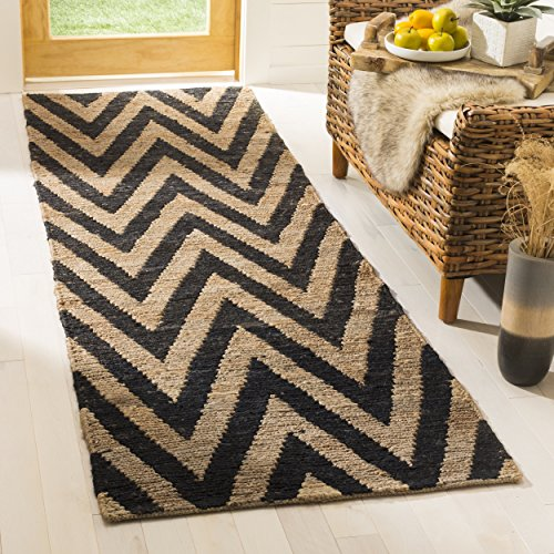 Organica Collection Runner (Safavieh Organica Collection ORG515A Hand-Knotted Black and Natural Wool Runner (2'6