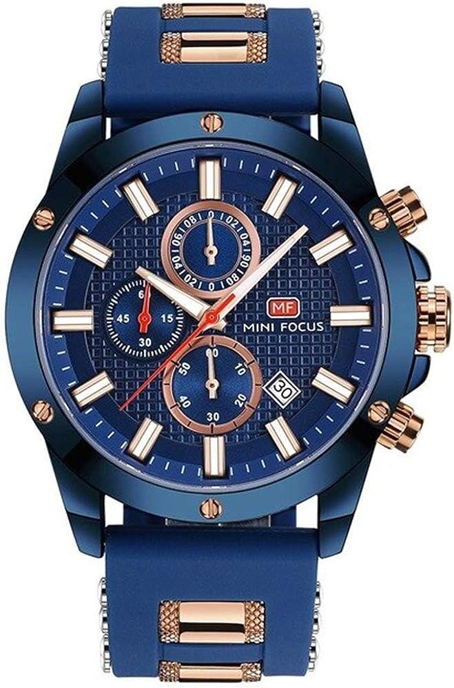 Men's Watches Mini Focus Royal Business Watch Men Quartz Top Brand Luxury Mesh Strap 3 Dial 6 Hands Chronograph Waterproof Dress Wristwatches Watches