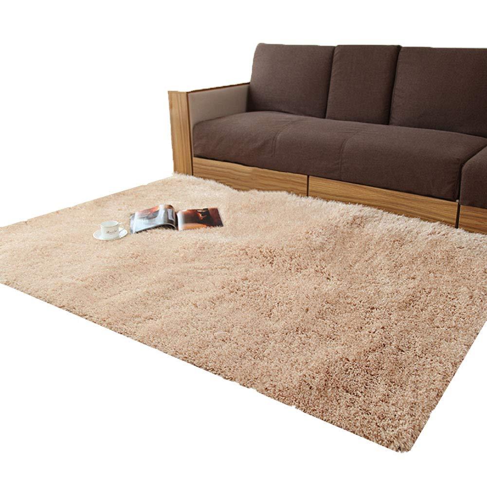 Teppiche TianHeng Bereich Shaggy Fluffy, Anti-Rutsch Esszimmer Schlafzimmer Bodenmatte, Farbe Größe optional (Farbe   Leicht gebräunt, größe   120×170cm)