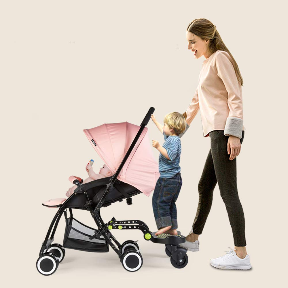 Universal Stroller Glider Board for Kids | Latch System for Easy Setup | Supports up to 70 lbs. | Reinforced Stand Board with Non-Slip Adhesive, Higher and Wider Feet Clearance by W WHYSGIVING (Image #5)