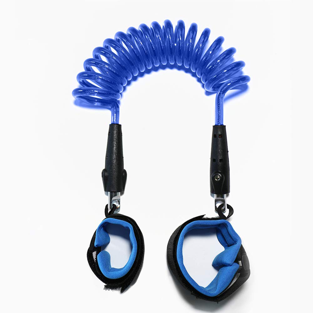 MQC Children's Anti-Lost Wrist Strap Traction Rope with Anti-Lost Belt Baby Belt Strap,Blue,1.5m