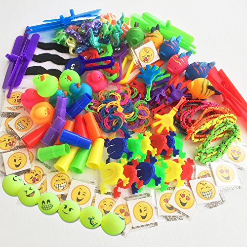 169-Piece Small Toy Assortment for Goody Bags, Party Favors for Kids Birthday Party, Bulk Rewards for Doctor Dentist Office, Items for Treasure Chests, Pinata Filler, Dollar Trees and Carnival Prizes (Small Bulk Items)