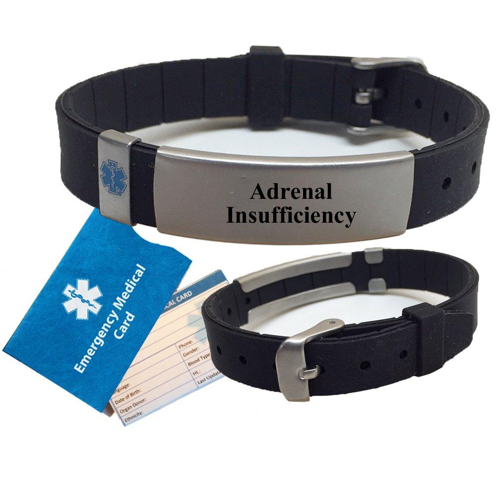 ADRENAL INSUFFICIENCY Medical Alert ID Bracelet