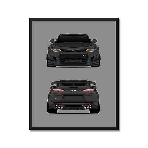 Chevrolet Camaro ZL1 Custom Poster Print