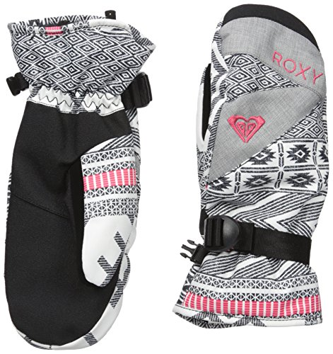 Roxy Snow Junior's Jetty Printed Snow Mittens, Windy Road, M