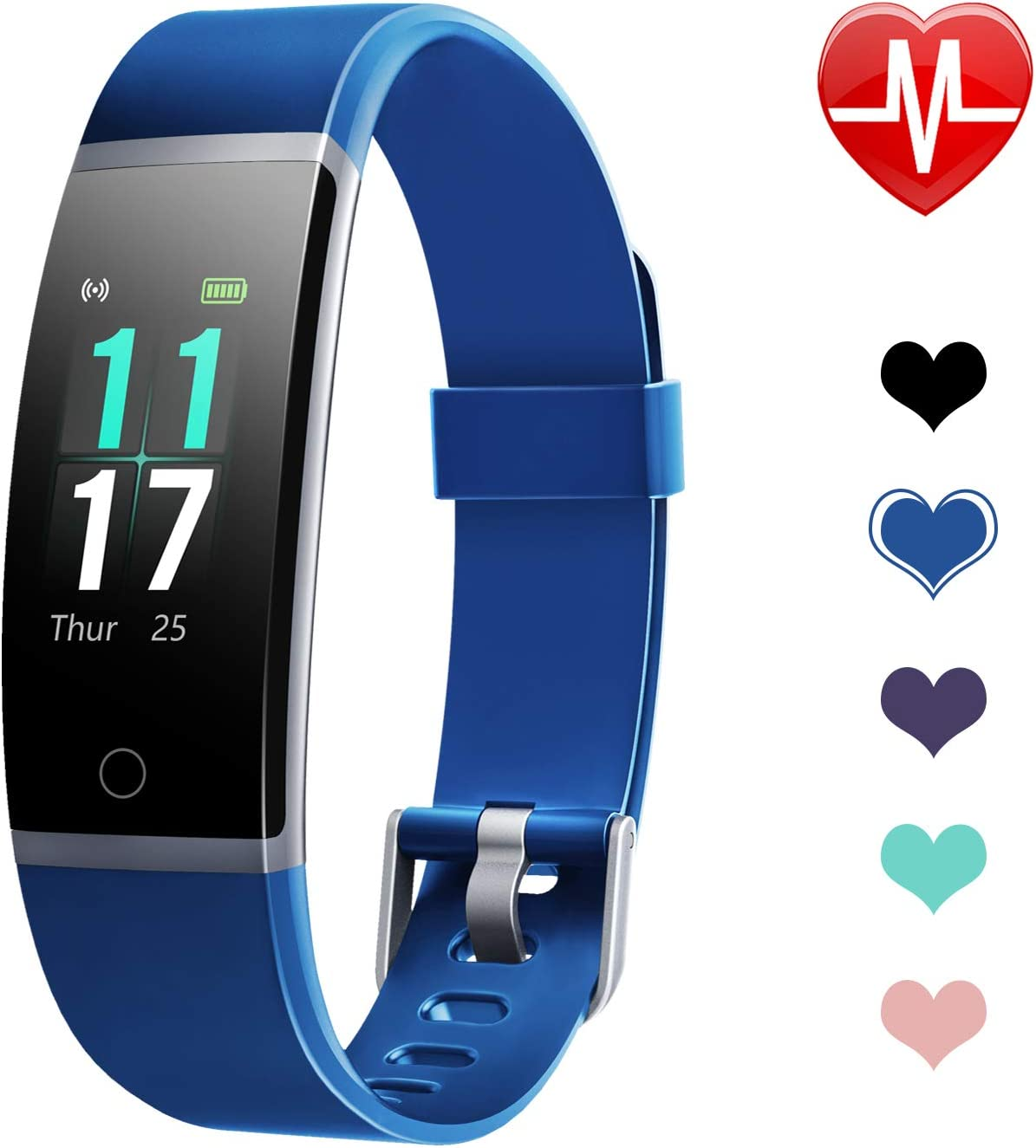 Letsfit Fitness Tracker HR with Step Counter