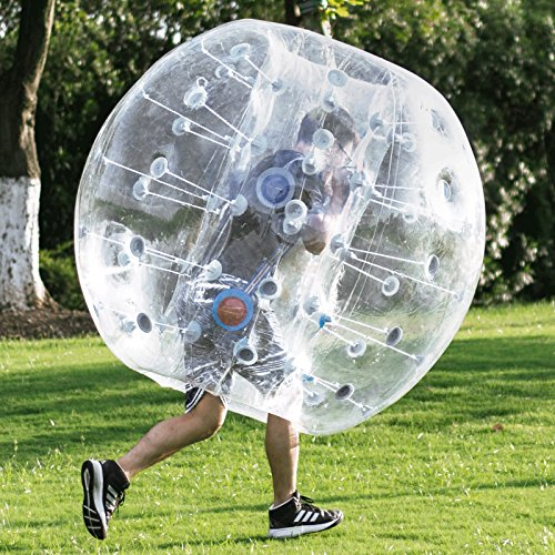 Happybuy Inflatable Bumper Ball 1.2M/4ft 1.5M/5ft Diameter Bubble Soccer Ball Blow Up Toy in 5 Min Inflatable Bumper Bubble Balls for Adults or Child (1.5M Transparent)