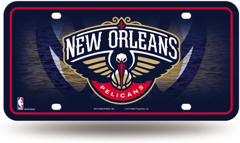 Licensed Nba New Orleans Pelicans Logo Metal Tag Proudly Made In The Usa Amazon Ca Sports Outdoors