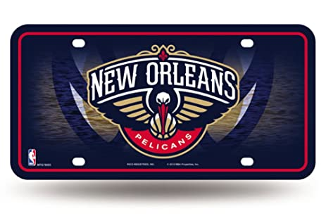 Licensed NBA New Orleans Pelicans Logo Metal Tag Proudly Made In The USA