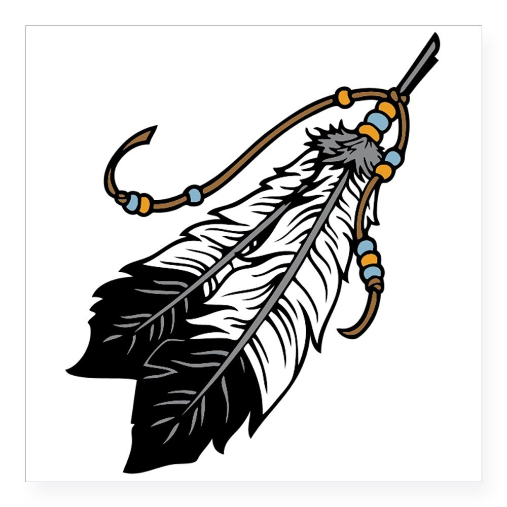 Amazoncom Cafepress Native American Feathers Sticker Square Bumper