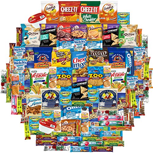 Snacks Generation Gift Care Package (100 Count) College Students, Work/ Office, Home or Military Over 9 Pounds of Cookies Chips & Candy (Snack Care)