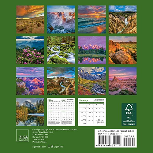 America's National Parks Mini Wall Calendar 2018 Photo #3