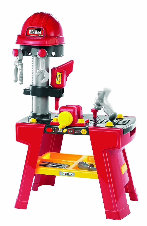 Ecoiffier 2375 - Taller de herramientas de juguete con casco [Importado de Alemania]
