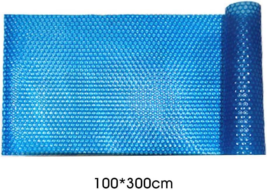 Cubierta De Aislamiento Solar para Piscina, Cubiertas Térmicas Sin Refuerzo 400 Micras Espesor Piscinas, Solar Piscina Negro Isotérmica De Burbujas Rectangular Cobertor Protección