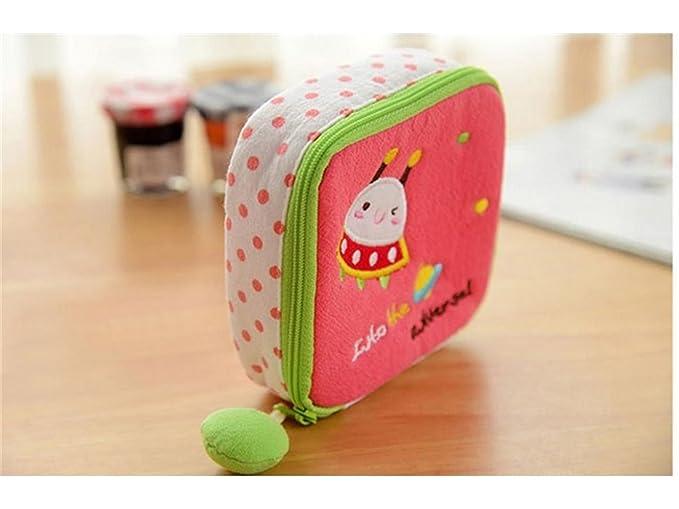 Hacer una hermosa decoración Bolsas de toallas sanitarias de algodón lindo Bolsas de almacenamiento de toallas sanitarias Bolsas de tela de dibujos animados ...