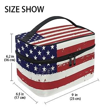Amazon.com: Bolsa de aseo grande con bandera de Estados ...