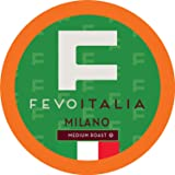 Fevo Italia Coffee Pods, Milano, Compatible with 2.0 K-Cup Brewers, 40 Count