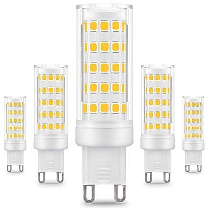 KINDEEP G9 Bombilla LED - 8W / 650LM, 75W Bombilla Halógena Equivalente, Blanco Cálido