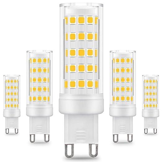 KINDEEP G9 Bombilla LED - 8W / 650LM, 75W Bombilla Halógena Equivalente 360 Grados ángulo de Haz Omni Directional (Blanco cálido): Amazon.es: Hogar