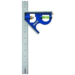 Irwin Tools Combination Square, Metal-Body, 12