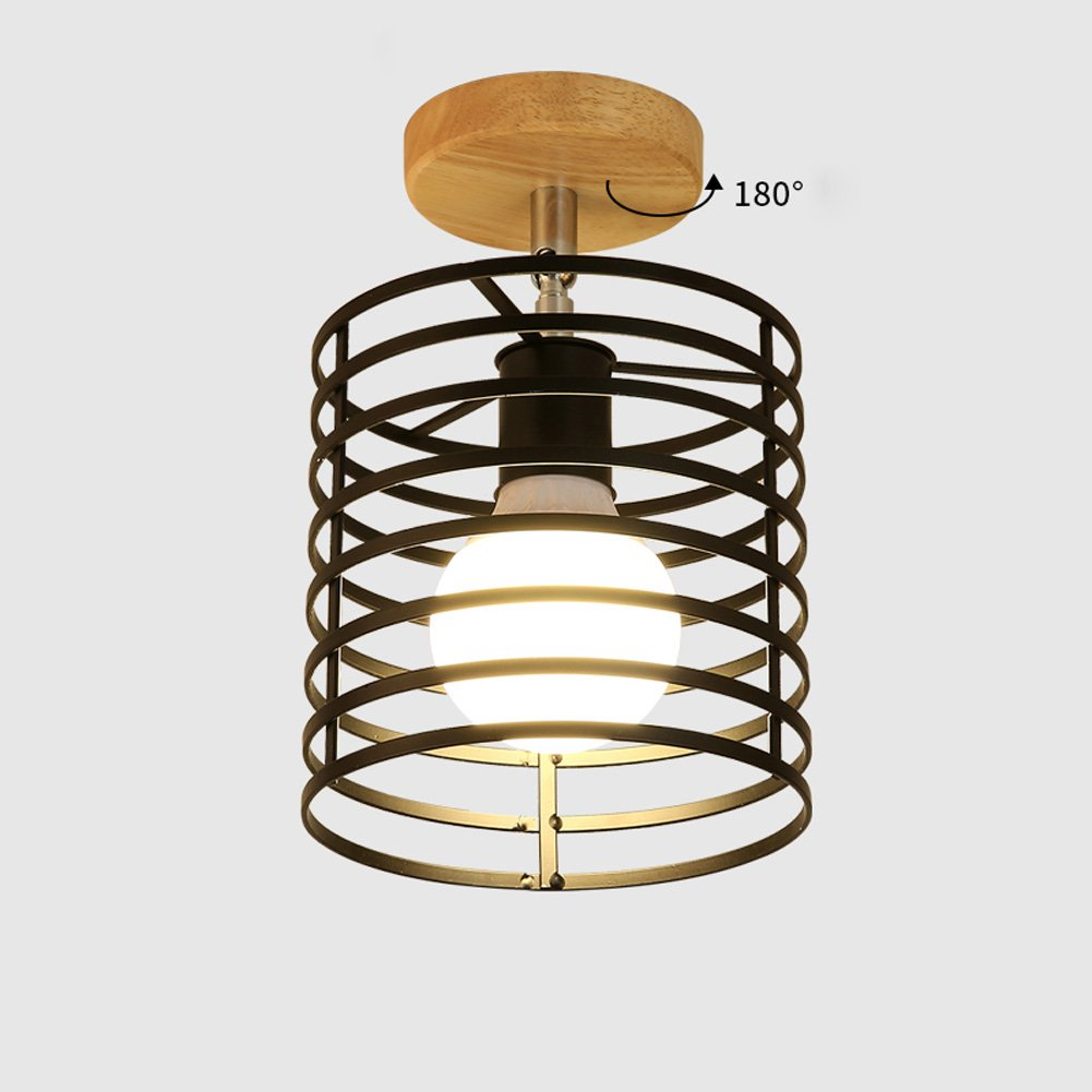 Ceiling Lights YXGH- Northern Europe Simple Log Small Japanese-Style Entrance Aisle Light Corridor Stairs Cloakroom Bay Window Balcony Home Fixture Children's Ceiling lamp