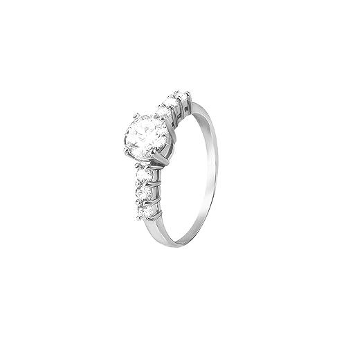vendita calda online 00f4e 7db26 Stroili - Anello in argento 925 rodiato e zirconi per Donna ...
