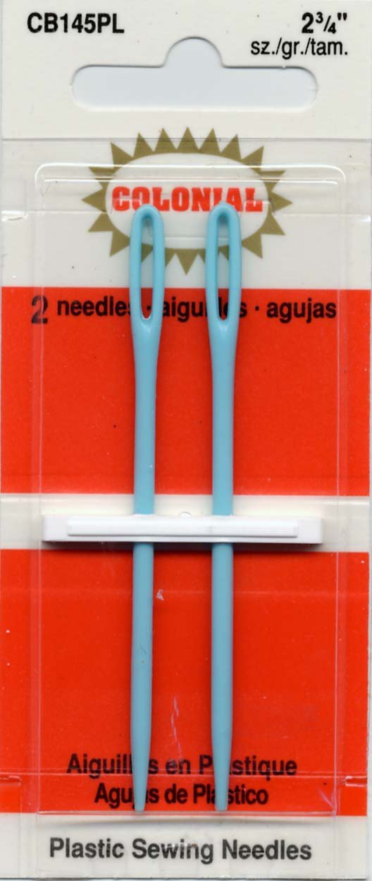 Colonial Needle 2 Count Plastic Needles, 2-3/4 by Colonial Needle B0042SR7HA