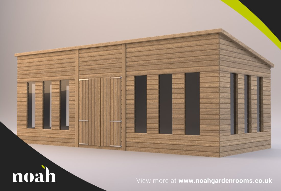 Cabaña de 12 x 8 de construcción reforzada. Caseta de madera para jardín/taller/lugar de descanso: Amazon.es: Jardín