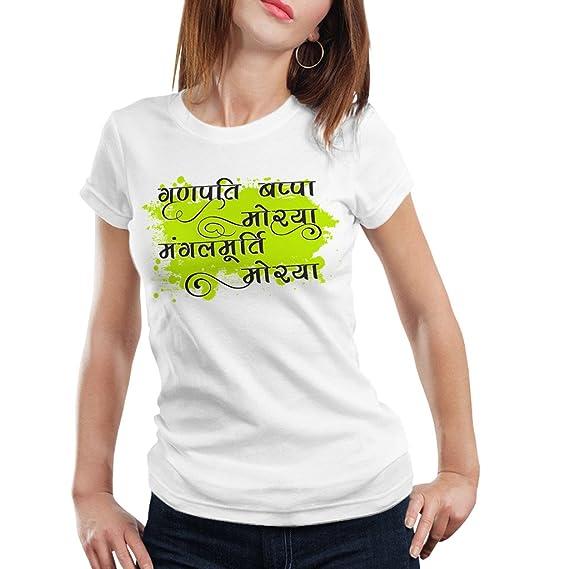 iberry s Women s Cotton Half Sleeve Round Neck Ganesha Tshirt GCH (13)- ... a3b4441e72297