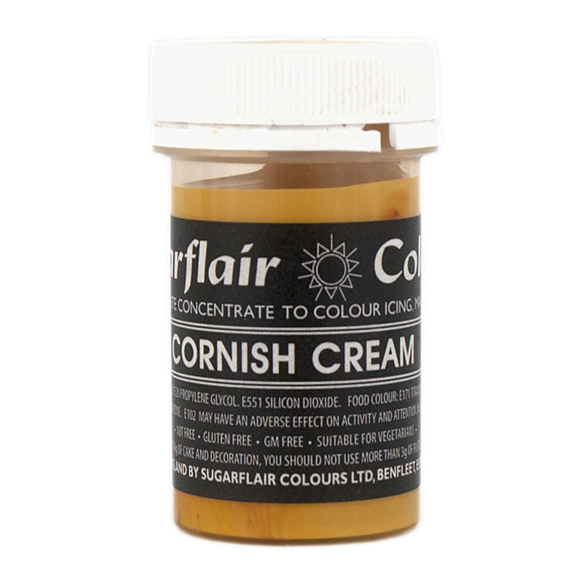 30 x Sugarflair CORNISH CREAM Pastel Edible Food Colour Paste for Cake Icing 25g