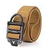 Tactical Belts with Quick Release Metal Clasp, Military Belt Men, Strong Nylon Webbing, Quick Dry, 3.8 * 125cm