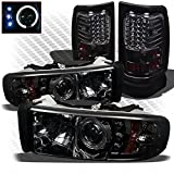 headlights for 1998 dodge - Xtune For 1994-2001 Dodge Ram 1500, 1994-2002 Ram 2500/3500 Smoked Halo Projector Headlights + LED Tail Lights 1997 1998 1999