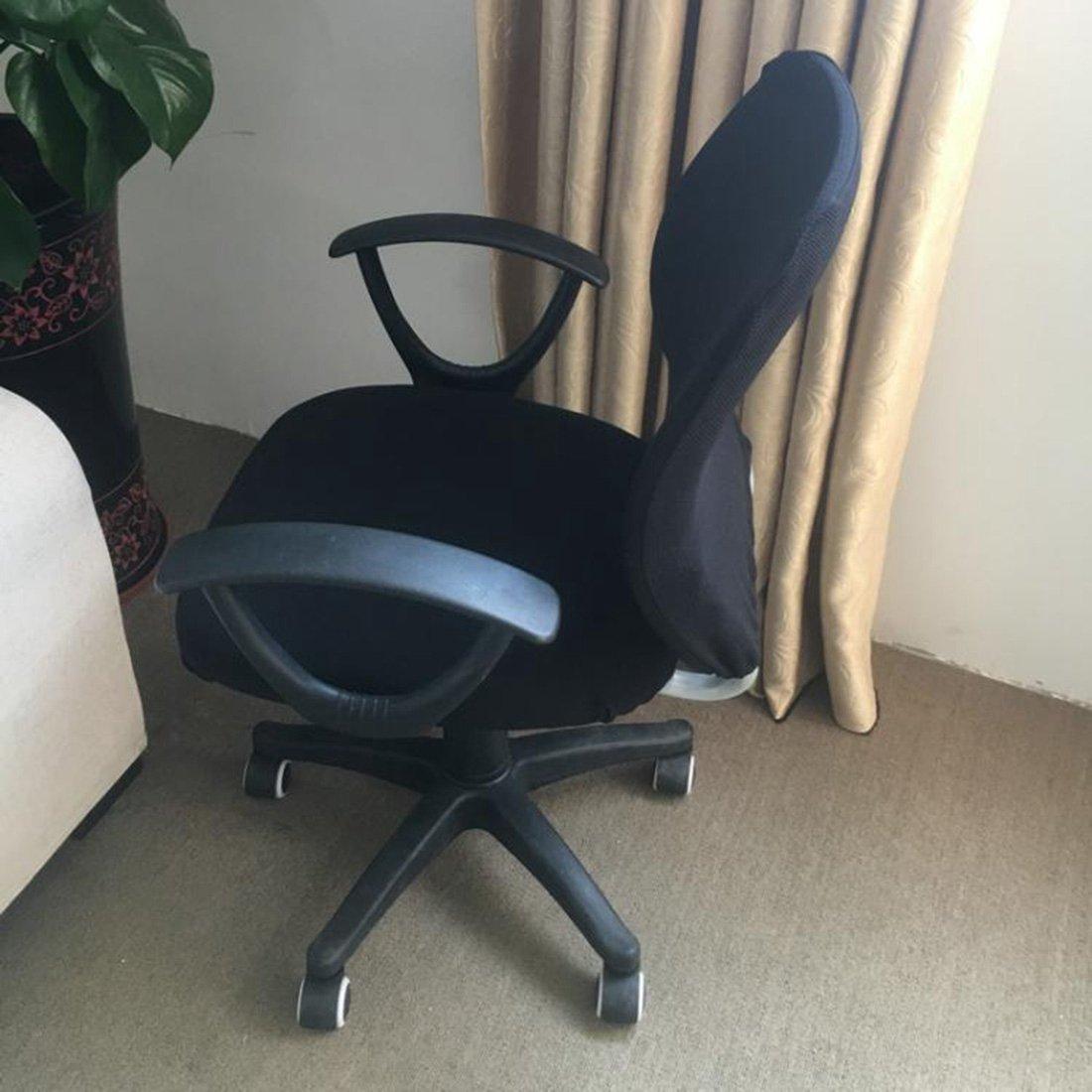 Pinji Housse pour chaise de bureau /élastique et amovible Taille unique Noir