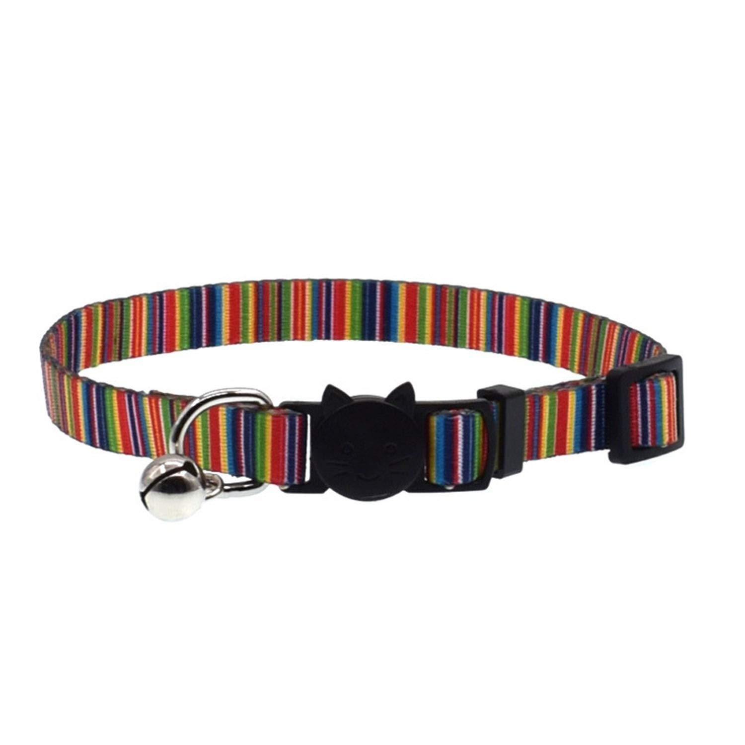 Cat Collar Safety Buckle Adjustable With Bell Kitten Dogs Cats Printing Collars