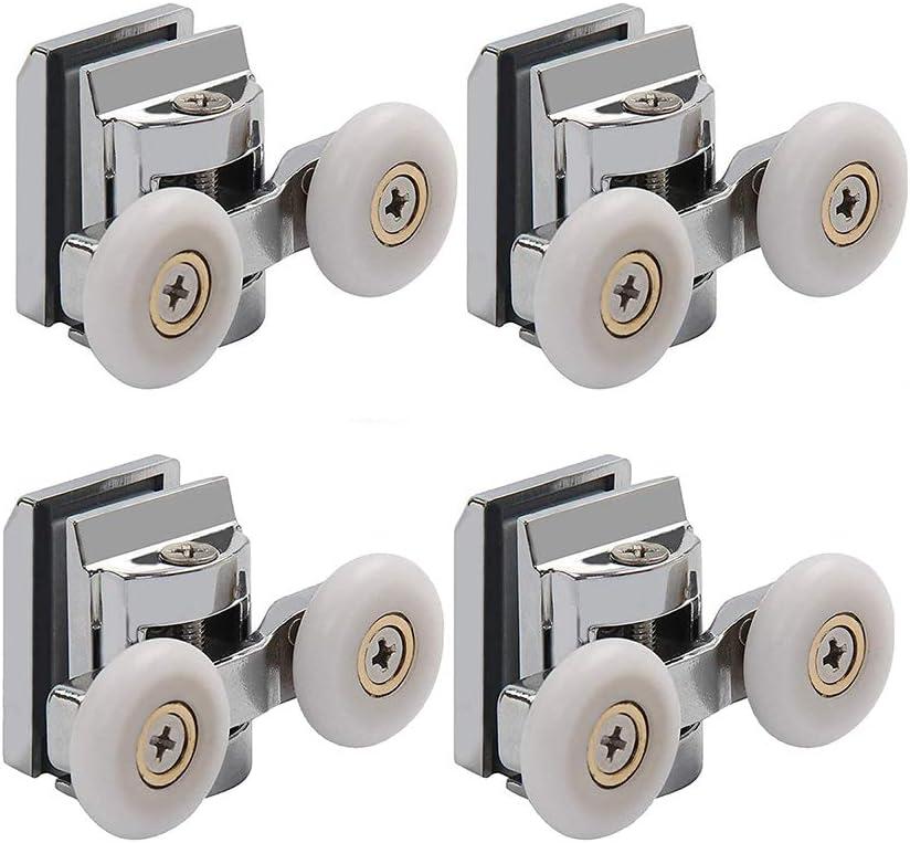4 Pcs De Zinc Jumelles En Alliage De Zinc Roulette Douche Roue Porte De Douche