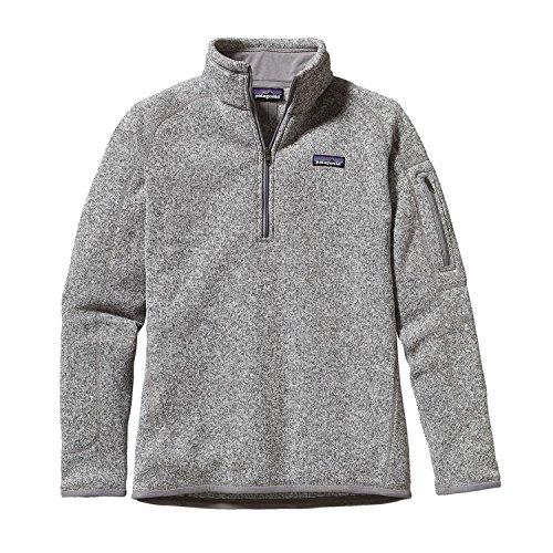 Patagonia  Women's  Sweater with 1/4 Zip Fleece - Small - Birch White