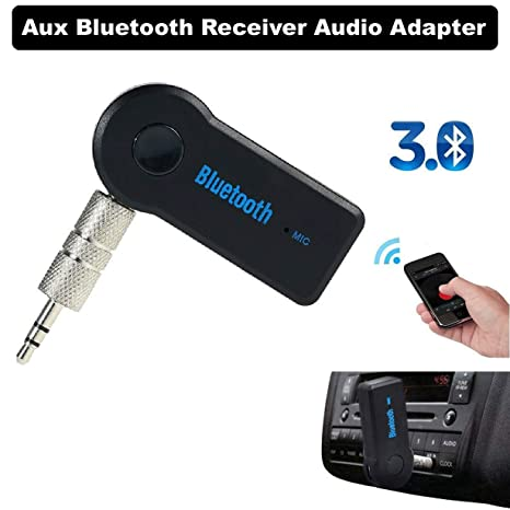 3.5mm Car Kit Bluetooth 4.1 Aux Music Receiver Audio Adapter Microphone