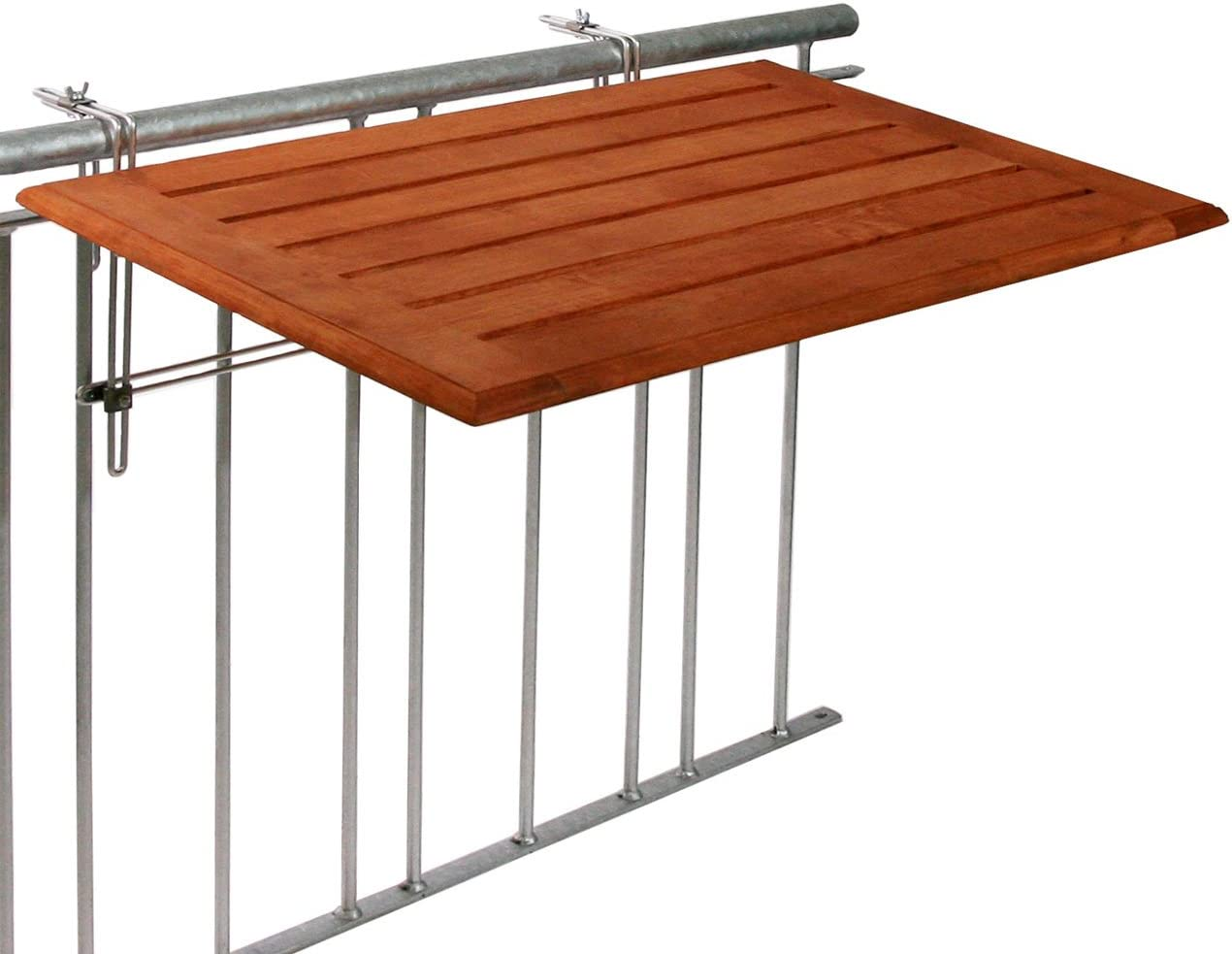 Videx – Mesa plegable de terraza, madera de bambú, 50 x 100 cm: Amazon.es: Jardín