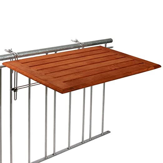 Balcón Mesa plegable de bambú 50 x 80 cm, balcón mesa colgantes ...