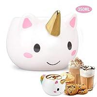 M·SY Tassé Licorne, Mug Licorne Tasse Porcelaine Café Mug Unicorn Céramique Noël Cadeau pour Mère Papa Petite Amie