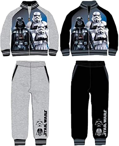 Chándal Deportivo Star Wars Colores Negro y Gris algodón ...