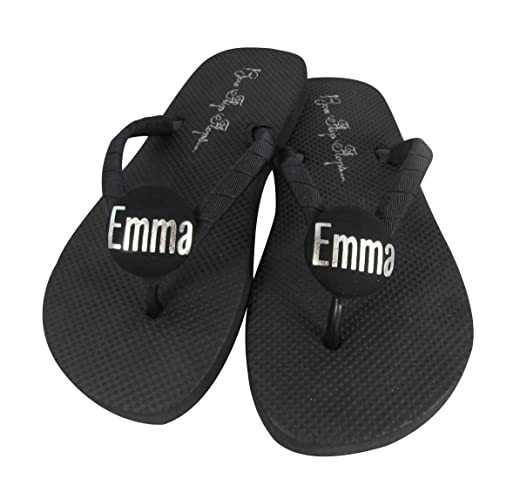 82dee2479ac0 Amazon.com  Customizable Colors and Personalized First Name Flip Flops -  Girls and Ladies  Handmade
