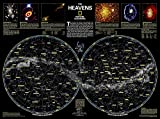 National Geographic: The Heavens Wall Map - Laminated (30.5 x 22.75 inches) (National Geographic Reference Map)