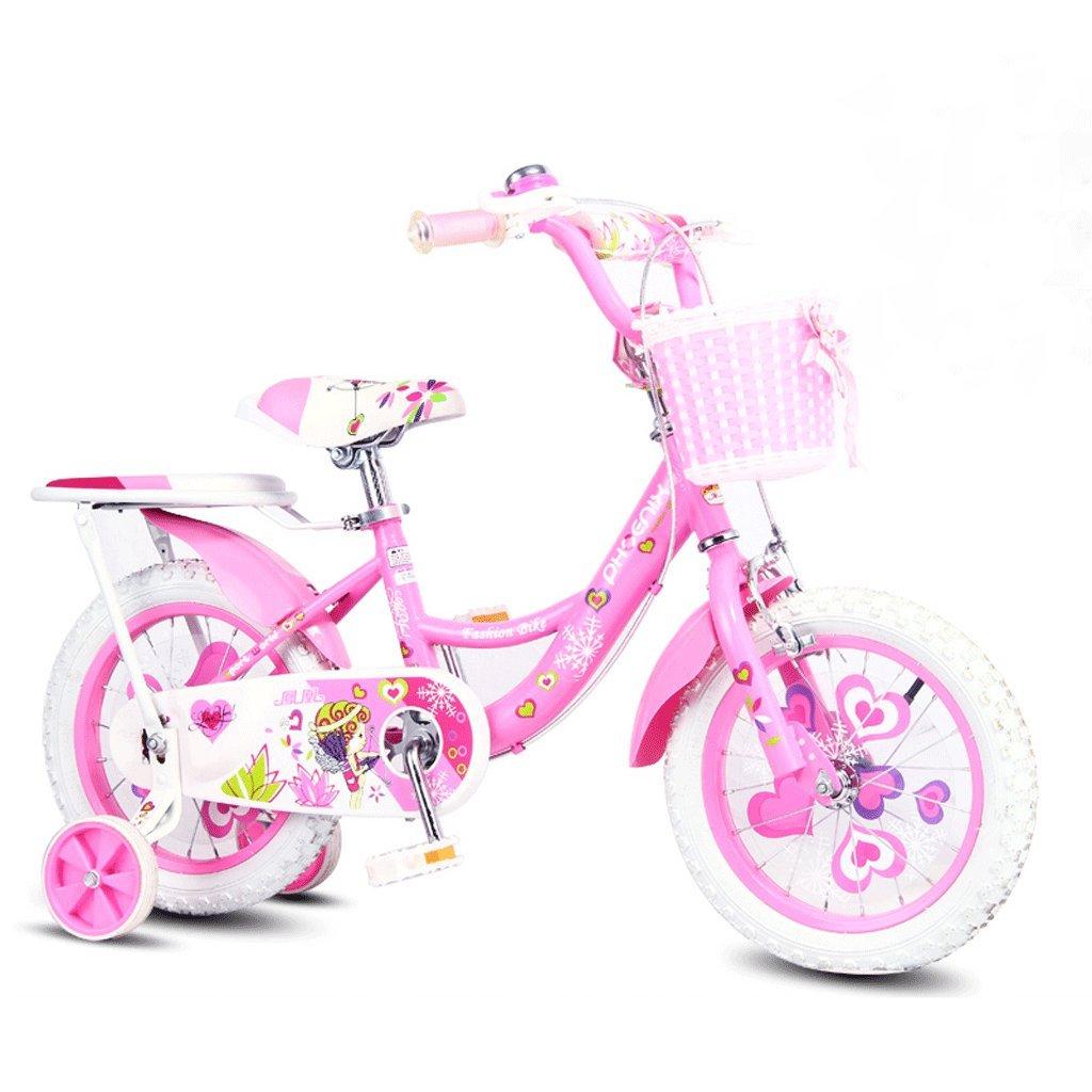 子供用自転車18インチガールズ自転車7-13歳の赤ちゃんキャリッジハイカーボンスチール自転車、ピンク/グリーン/ブルー (Color : Pink) B07CVBBMSZ