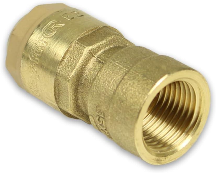 12mm - 1//2 Messing Steckfitting f/ür Kupferrohr /Übergang mit Innengewinde