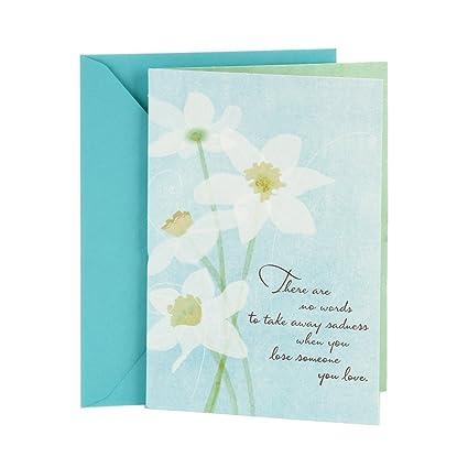Amazon hallmark sympathy card white flowers office products hallmark sympathy card white flowers m4hsunfo
