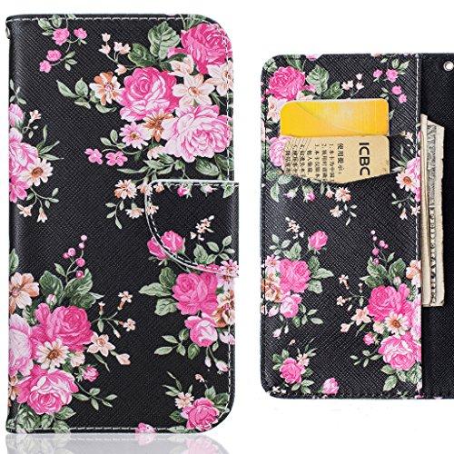 Lemorry Apple Iphone 6s Plus 5 5 Custodia Pelle Cuoio Flip Portafoglio Borsa Sottile Fit Bumper Protettivo Magnetico Chiusura Standing Card Slot Morbido Silicone Tpu Case Cover Per 6